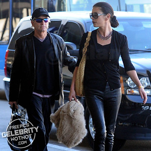 Michael Douglas and Catherine Zeta-Jones Both Wear Leather In Los Angeles