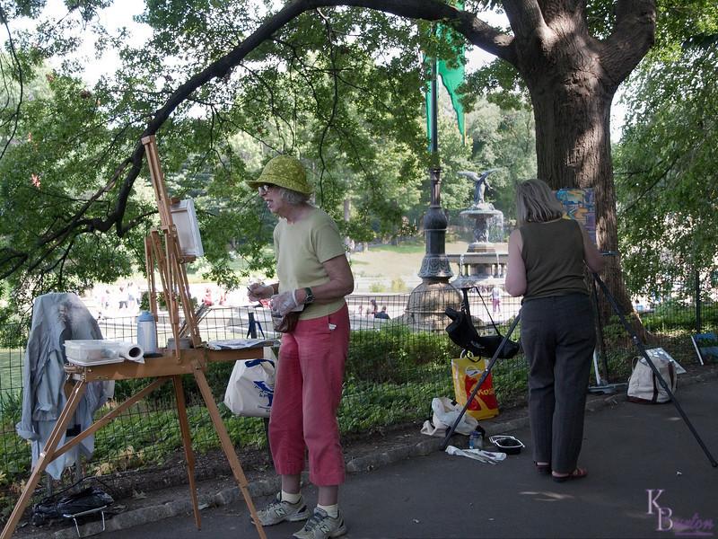 DSC_9716 capturing the park on canvas