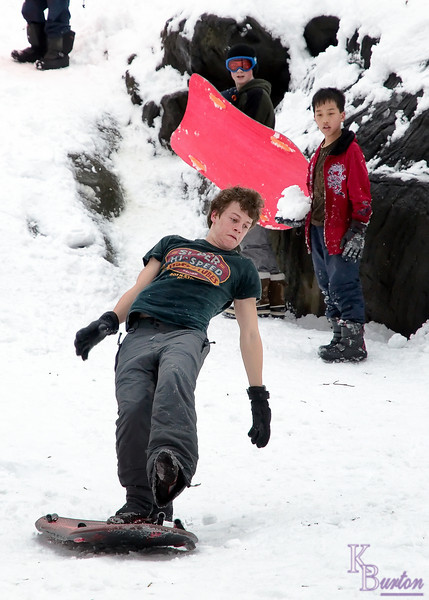 The young man about to go flying at the bottom of this run is named David. Turns out he was in town on a break from Eaton College in England. He liked some of the pictures I took so much that he asked me to e-mail some of them to him at his school, where they were looking for shots to put in their school calendar. That would be so cool if some of my pictures ended up in a calendar from a school that famous.