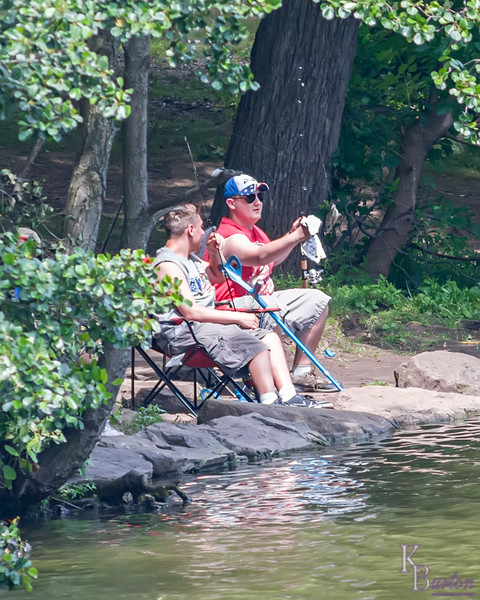 fishing; candid; Staten Island; Clove Lake; summer; NYC;