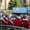 You never know what you'll run into next in the Big Apple. Stepping out of the subway on a sunny weekday afternoon last month, I walked right smack dab into a full sized brass band calling themselves the California Repercussions. They were playing an impromptu concert right in the middle of Columbus Circle, much to the delight of the passing crowds.