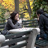 Since I've gotten back into photography 3 years ago I've often passed through here, and thought it would be nice to capture several shots of people playing chess and checkers amidst the splendid colors of the fall in this, the worlds most famous park. I think this shot is a good one to start off with.