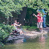fishing; candid; Staten Island; Clove Lake; summer; NYC