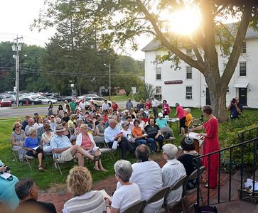 Candlelight vigil at Avon Congregational Church