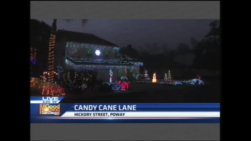 KUSI TV morning news of Candy Cane Poway