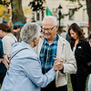 Bernie and Pat Gardner slow dance along to the music during the cannoli festival in downtown Leominster on Thursday evening. SENTINEL & ENTERPRISE / Ashley Green