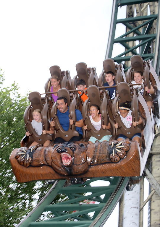 ". ""Untamed\"" thrill ride at Canobie Lake Park in Salem, N.H. (SUN/Julia Malakie)"