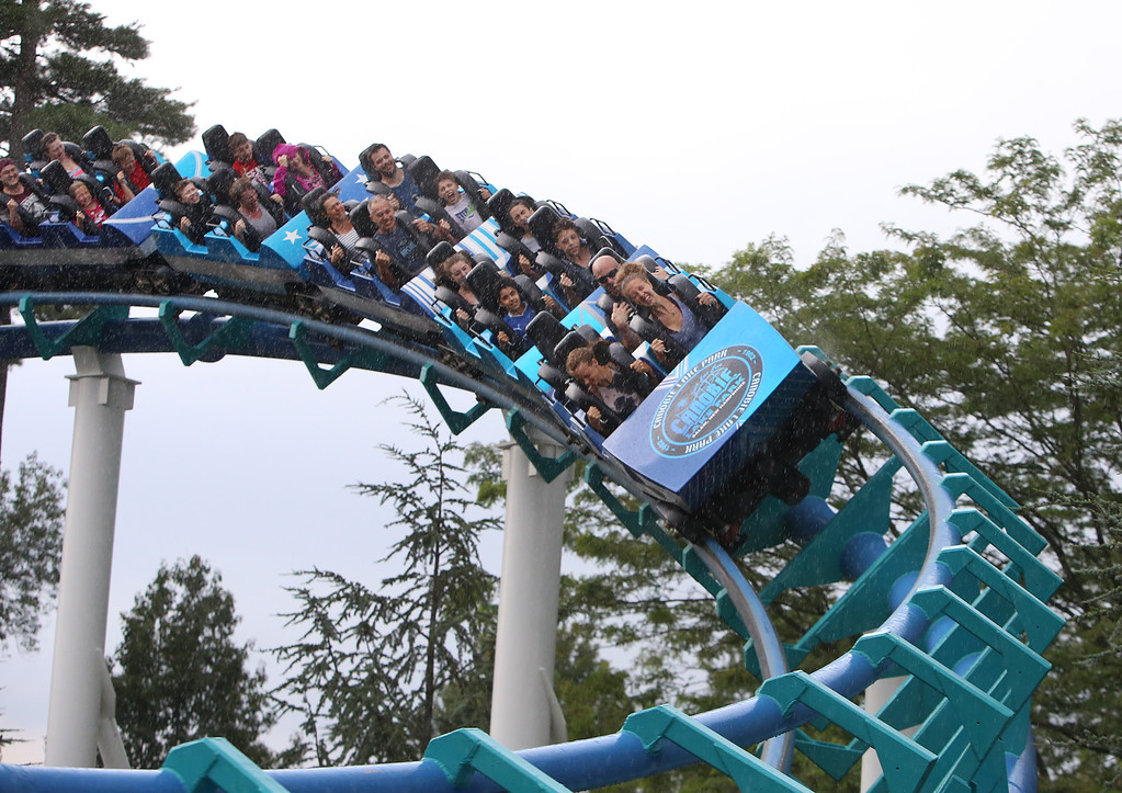 . The Corkscrew thrill ride at Canobie Lake Park in Salem, N.H. (SUN/Julia Malakie)