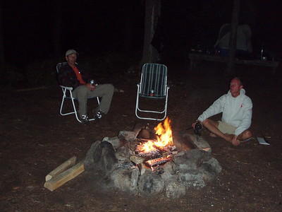 Around the campfire we heard the haunting calls of loons.