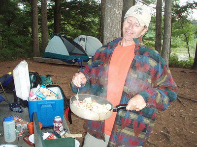 Once we returned back to our campsite we began to cook dinner.
