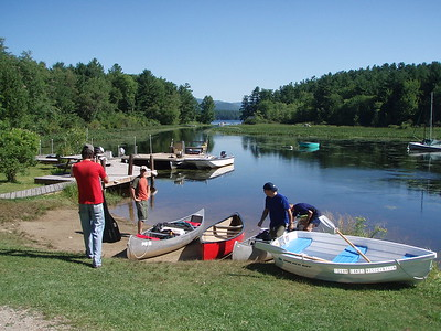 The primary boat launch is at the Squam Lakes Association. It's your typical boat launch, with plenty of parking.