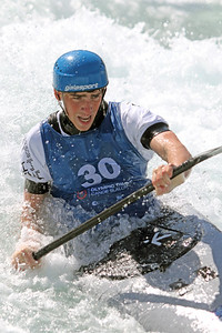 Wesley Bolyard competes at USA Canoe/Kayak Olympic Trials Day 1 at U.S. National Whitewater Center -- Monday, April 12, 2021