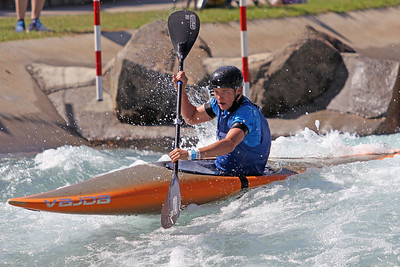 Kyler Long competes at USA Canoe/Kayak Olympic Trials Day 1 at U.S. National Whitewater Center -- Monday, April 12, 2021