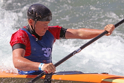 Merle Long competes at USA Canoe/Kayak Olympic Trials Day 1 at U.S. National Whitewater Center -- Monday, April 12, 2021