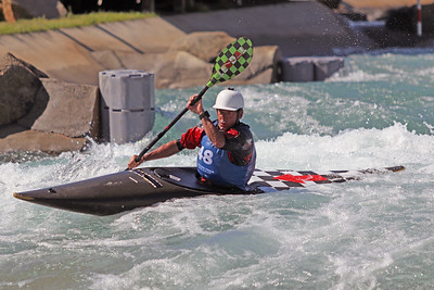 Eric Jackson competes at USA Canoe/Kayak Olympic Trials Day 1 at U.S. National Whitewater Center -- Monday, April 12, 2021