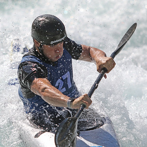 Jordan Sherman competes at USA Canoe/Kayak Olympic Trials Day 1 at U.S. National Whitewater Center -- Monday, April 12, 2021