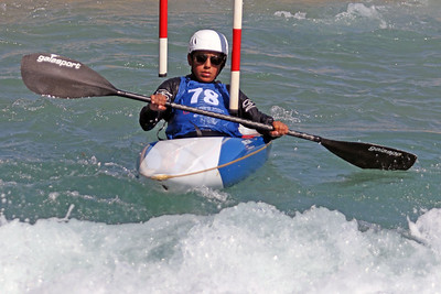 Luca Bohn competes at USA Canoe/Kayak Olympic Trials Day 1 at U.S. National Whitewater Center -- Monday, April 12, 2021