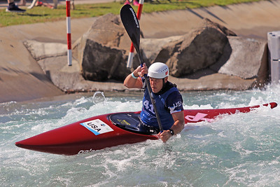 Kenneth Hank competes at USA Canoe/Kayak Olympic Trials Day 1 at U.S. National Whitewater Center -- Monday, April 12, 2021