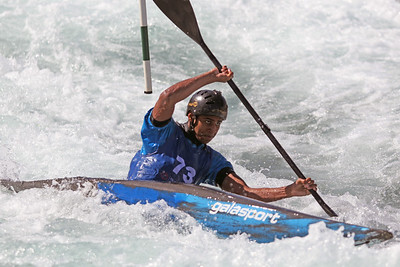 Arjun Pathiyal competes at USA Canoe/Kayak Olympic Trials Day 1 at U.S. National Whitewater Center -- Monday, April 12, 2021