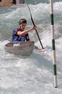 Davis Jung competes at USA Canoe/Kayak Olympic Trials Day 1 at U.S. National Whitewater Center -- Monday, April 12, 2021