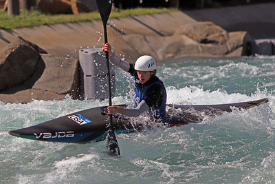 Noah Nothman competes at USA Canoe/Kayak Olympic Trials Day 1 at U.S. National Whitewater Center -- Monday, April 12, 2021