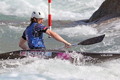 """Zachary """"Bug"""" Lokken competes in the USA Canoe/Kayak Slalom Olympic Trials Day 3 at U.S. National Whitewater Center -- Wednesday, April 14, 2021"""