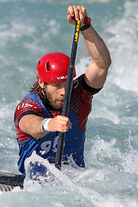 Casey Eichfeld competes in the USA Canoe/Kayak Slalom Olympic Trials Day 3 at U.S. National Whitewater Center -- Wednesday, April 14, 2021