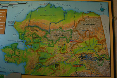 Arctic Village is shown on this map but the Kongakut River is not. It is parallel to the border with Canada at the top right part of the map. Note all the wildlife refuges in Alaska!