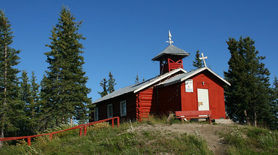 Arctic Village is a small Athabascan native village with about 150 inhabitants. There is no outside road. This church is on the National Register of Historic Places.