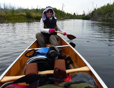 Rena paddling.
