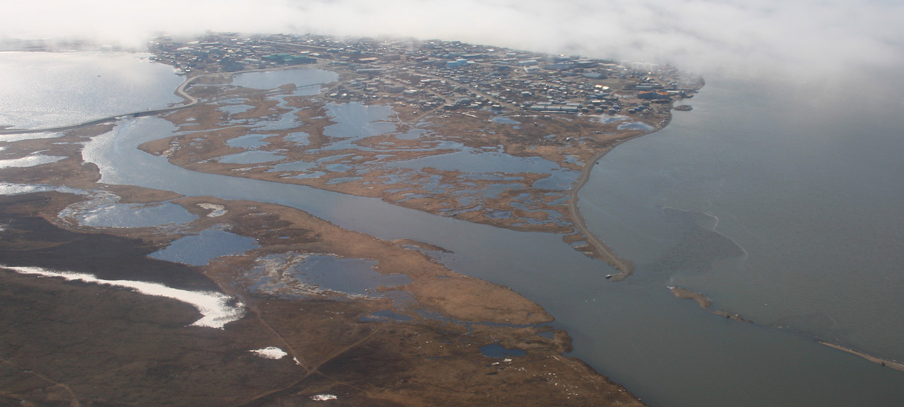 View of Kotzebue from the bush plane.