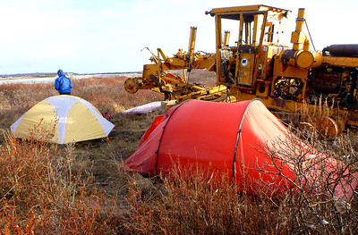 Camp 0 - Kotzebue Camp - After arriving in Kotzebue, we found a place to camp south of the airport before our bush flight to the headwaters of the Colville River the following day.