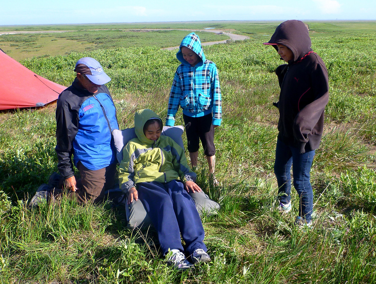 Camp 26 + 27 - Nuiqsut Camp - We had visitors from the village.