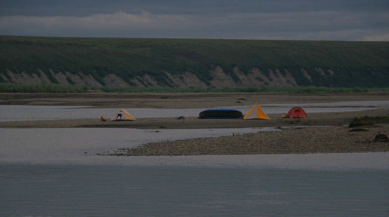 Camp 19 - Uimat Camp - We saw people for the first time since we flew in from Kotzebue.