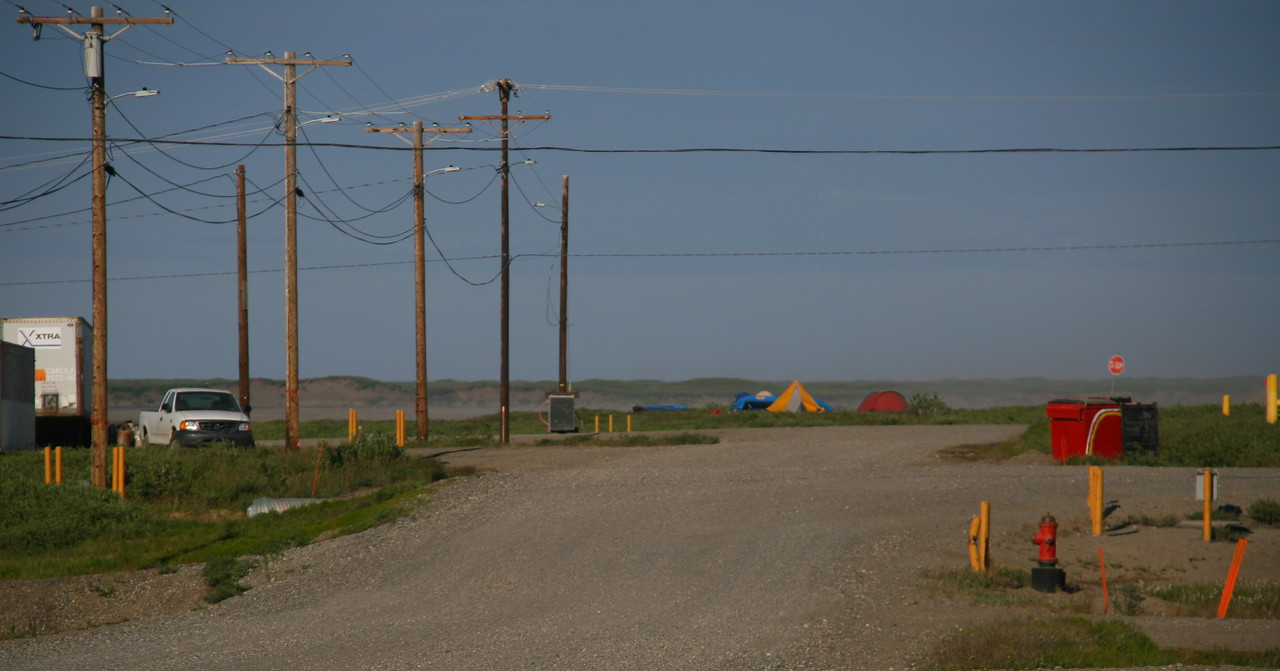 Camp 26 + 27 - Nuiqsut Camp - We camped at the edge of this village for our last 2 nights before flying home.