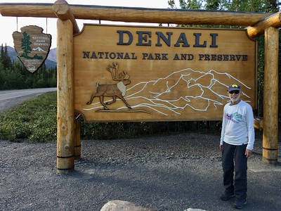Denali is about 8 hours north of Anchorage by train.  At 6 million acres, it's America's 3rd largest national park.