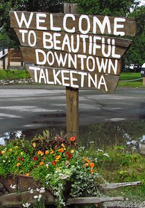 Talkeetna is cute old town on south side of Denali.  Most all expeditions fly up from here to start climbing the mountain.