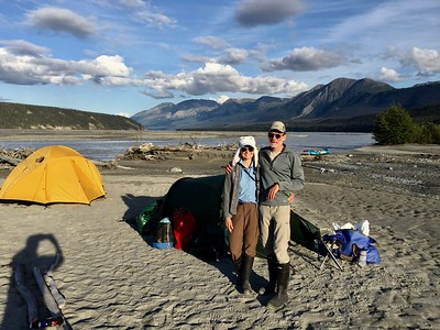 Enjoyed the great weather on the Chitina, though we had to carry stuff a ways to get above the soggy lower ground near river.