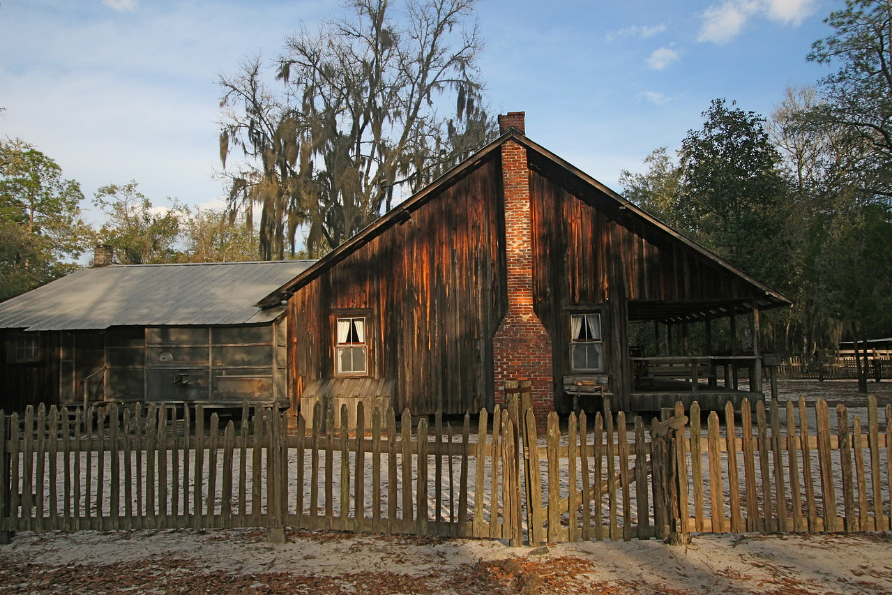This is the old Chesser Homestead. It was built in 1927 and occupied until 1958 by several generations.  They lived completely off the grid and a tour of the well kept place is extremely interesting.