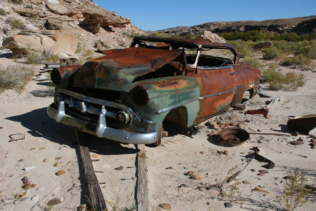 Day 2 - At McCarty Bottom (Mile 108) we visit an old abandoned homestead containing this old 1953 Chevy