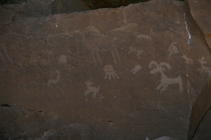 There were petroglyphs behind the old homestead.