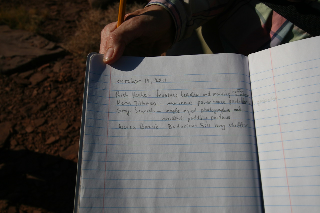 People have carved their names in a rock on Bowknot Ridge. But now, a book is available to write in.
