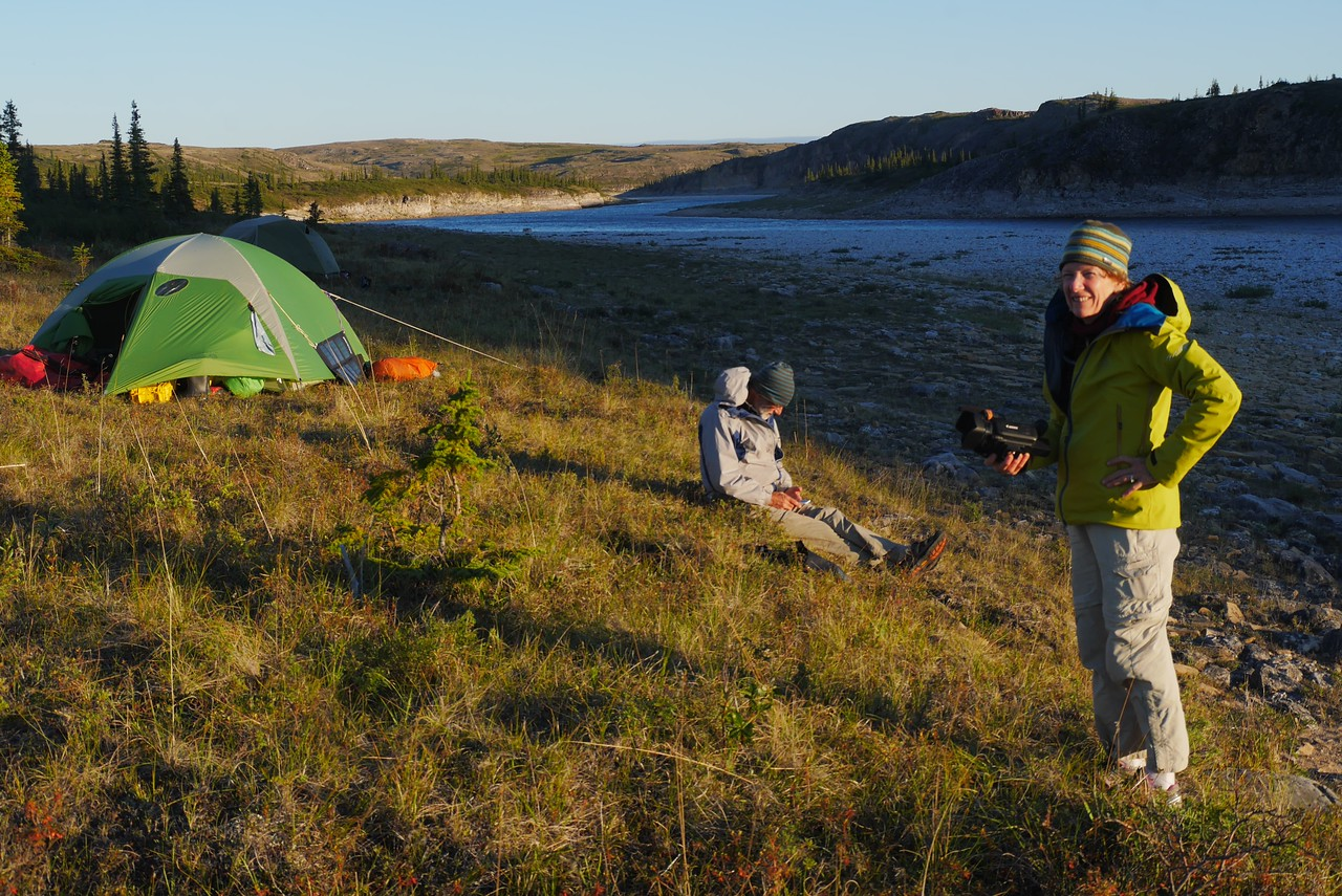 Day 11- Good evening light at Slab Camp. Of course it is light all night in the Arctic.