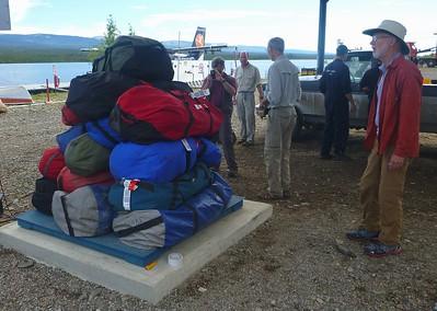 After arriving in Norman Wells, our bags were weighed again. Total weight is important for small planes.