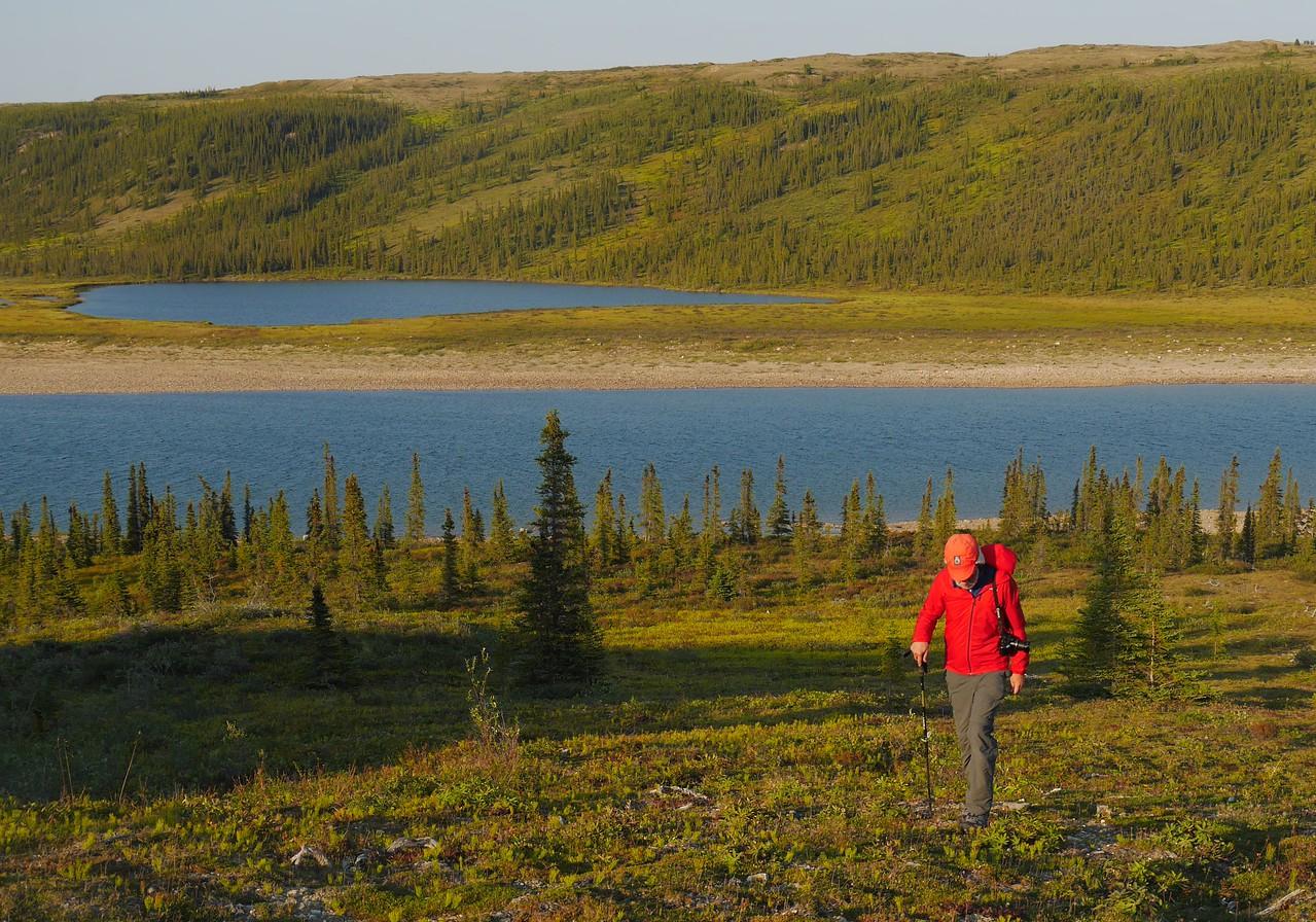 Day 14 - Hiking at Bear Dig Camp.