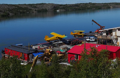 Yellowknife is colorful.