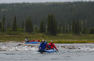 Day 4 -  The first half of the river had many rocky areas where you could easily run aground.