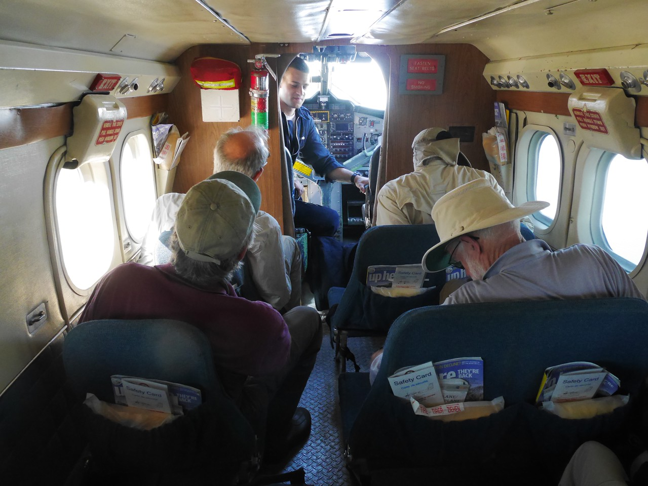 The flight to Horton Lake was in a Twin Otter aircraft run by North-Wright Airlines..