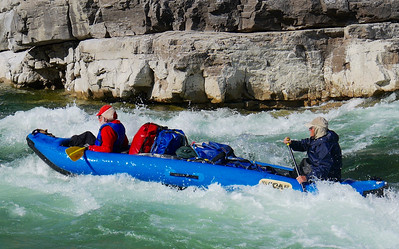 About middle of trip we paddled thru 2 canyons over 2 days, where we ran the only significant rapids, and portaged one.