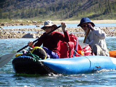 Brian & Rich are experienced Arctic river canoeists, so that helped Steve & me, but Greg & Louisa had a lot to learn in their canoe.